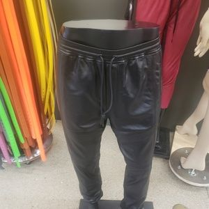 Mens leather joggers by j brand